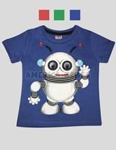 Remera nene M/C con estampa Robot. Colores surtidos. Tulele.