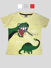 Remera M/C nene con estampa Dinosaurio. Colores surtidos. Tulele.