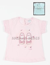 "Remera bb nena ""Zapatitos"" c/glitter y apliques. Colores surtidos. Gepetto."