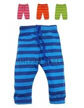 Mini pantalón rayado con lazos en la cintura. Colores surtidos. Pachi.