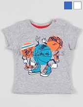 Remera bebe m/c  Slam estampada. Baby Way.