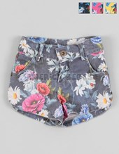 Short beba estampado flores. Baby Way.