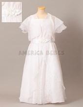 Vestido comunion con pechera y falda. Children Dior.