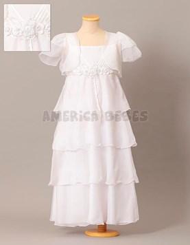 Vestido de comunion solero con pechera plizada. Children Dior.