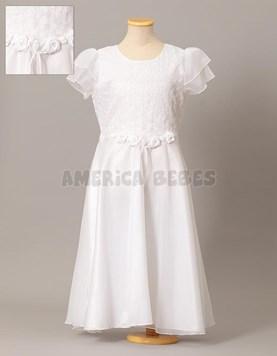 Vestido de comunion con bordado. Maria Lorena.