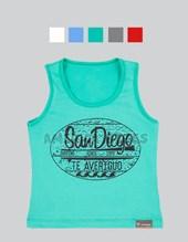Musculosa nene estampa San Diego. Colores surtidos. Cheito.
