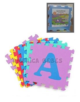 Piso de goma encastrable A-M (10 piezas + 3 DE REGALO). Gorditoo.