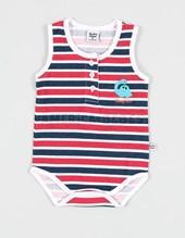 Body bebe musculosa con rayas y botones. .Baby Skin.