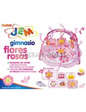 Gimnasio flores rosas.  Accesorios con sonido y diversas funciones.Jem