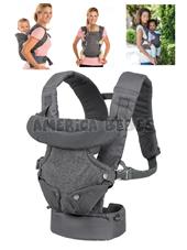 Mochila  Porta bebe convertible 4 en 1 FLIP ADVANCED. Orientado hacia adentro (asiento angosto), hacia adentro (asiento ancho), hacia afuera y hacia atrás. 3.6-14.5 kgs. Infantino.