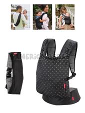 Mochila bolso Porta bebe Zip Travel Carrier.  rientado hacia adentro y posiciones de mochila para la comodidad del bebé . 5.4 a 18.1 kg. Infantino.
