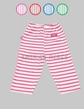 Pantalon bebes rayados con dobladillo. Colores surtidos. Gamise.