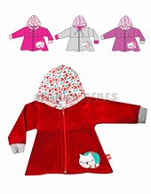 Campera plush nena Mishi.  T0-3: 3 / T3-6: 6 / T6-9: 9 / T9-12: 12 / T12-18:18. Colores surtidos. Yaby.