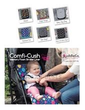 Colchon universal COMFI CUSH COLCHON INTELIGENTE para cochecitos Lavable, Acolchado. Colores y estampados surtidos. Cuddle Co