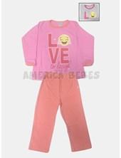 575e8b2ae Pijama nena estampado. Colores surtidos. Naranjo.