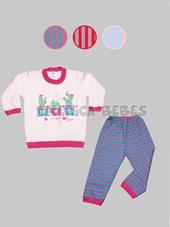 Pijama niña M/L con estampa cactus. Colores surtidos.Gamise