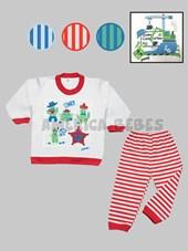 Pijama niño M/L con estampado..Colores surtidos. Gamise.