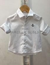 Camisa bebe  c/bordado Ancla. Colores surtidos. Popeye.