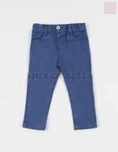 Pantalon mini bebe clasico en gabardina elastizada. Colores surtidos. Creaciones Nora.