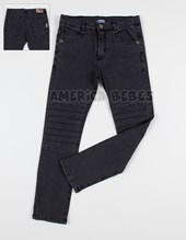 Pantalon niños Denim c/lycra chupin. Facheritos.