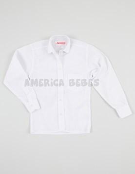 Camisa nena M/L escolar blanca. Sarmiento.
