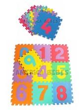 Piso de goma encastrable numeros (10 piezas). Gorditoo.