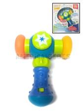 Juguete bebes Martillo con luz y sonidos. Puntas de plastico suave. Budada.