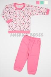 Pijama Nena estampado Unicronios. Colores surtidos. Naranjo.