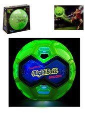Pelota de futbol. Tangle Nigth Ball Luminosa. Nº5 con luz de led. Inflable.  Shine.