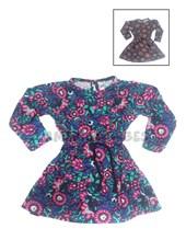 Vestido beba viscosa estampada. Colores surtidos. Compacto.