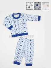 Pijama Bebe estampado. Colores surtidos. Naranjo.