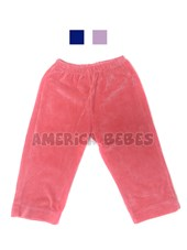 Pantalon plush c/bolsillo. Colores surtidos. Naranajo.