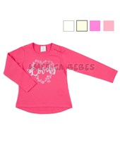 Remera beba M/L con estampa Lovely. Colores surtidos. Ruabel.