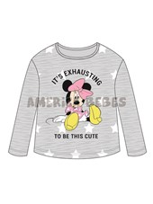 Remera beba M/L jerseyMinnie. Disney Licencia.