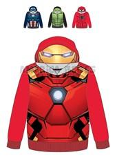 Buzo niño con mascara. Spierman, Hulk, Iron man y Capitan America. Disney Licencia.