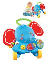 Elefante andador con luces y música. Edad: 0 – 36 meses. Zippy Toys.