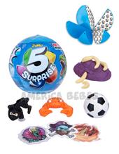 5 Surprise. Pelota con 5 divertidas sorpresas. Modelos coleccionables para nene. Shine.