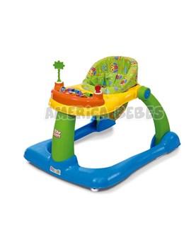 Andador 2 EN 1 Baby Steps NENE. + 6 meses. Andador y caminador. bandeja de actividades, asiento regulable y desmontable. Rondi.
