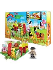 Tablero de construcion mis ladrillos ZOO. Incluye canciones, cuentos animados e instruciones en dvd.  + 2 años. Lionels.