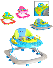 Andador bebe Spaceship. 8 ruedas. Regulable en altura. Bandeja electronica. Colores Verde, Azul Y Rosa. Kiddy.