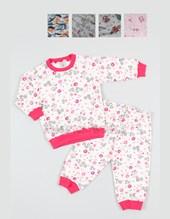 Pijama interlock estampado nene y nena. Colores surtidos. Narocca.