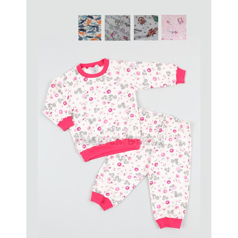 1a63c5e4f Pijama interlock estampado nene y nena. Colores surtidos. Narocca ...