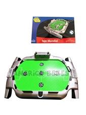 Tejo Futbol mundial. Incluye discos de pelota. Botón de música Contiene marcador de goles. Posee suspensión de aire para la movilidad de los discos. Zippy Toys.