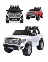 Camioneta Toyota Tundra a bateria 12V con control remoto, mp3, musica panel con luces y suspension. Color Rojo, Negro, Blanco. Biemme.