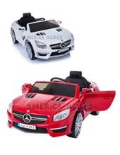 Auto a bateria Mercedes Happy a bateria 12V con control remoto, mp3, musica panel con luces. Rojo, Blanco. Biemme.