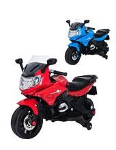 Moto a bateria BMW 12V. Rueditas, luces sonidos. Color Azul, Rojo. Biemme.