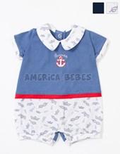 Enterito corto bebe jersey combinado. Colores surtidos. Barcelito.