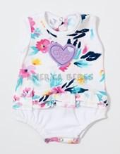 Vestido beba fresquito algodon est. bordado con bombacha.  Colores surtidos. Lusitania.