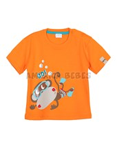 Remera bebe M/C estampa MONO. Colores surtidos. Gepetto.