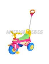 Triciclo a pedal LADY. Barral.  Respaldo y guarda juguetes bajo el asiento.  Biemme.